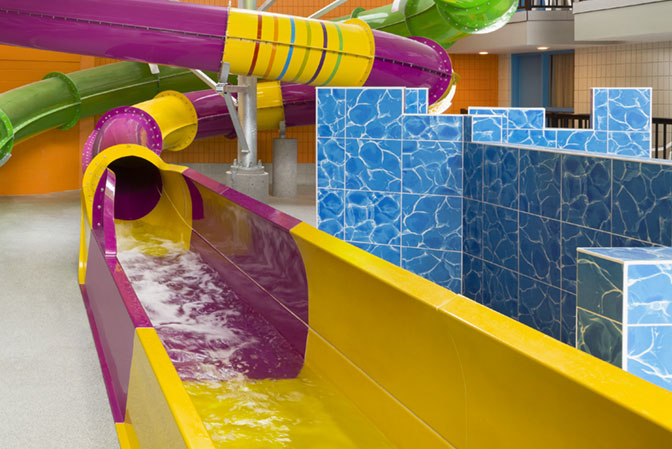 Purple & Yellow Waterslide